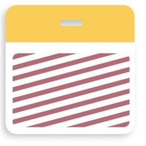TEMPbadge Thermal Printable Clip-On One-Day/Half-Day Expiration Badge Back (qty. 500) Image 1