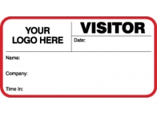 VisitorPass ID Card With Custom Logo (Pack of 500) - Style A