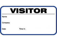 Small Visitor Pass ID Card With Blue Border (Pack of 500)