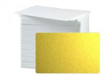 CR80 30 Mil PVC Cards, Metallic Gold (pack of 100)
