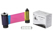 SMART Full Colour Ribbon - YMCKFO - 200 Prints (SMART-YMCKFO)