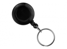 Secure ASP Black Economy ID Badge Reel with Split Ring (Pack of 100)