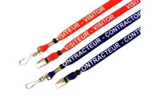 1/2in Dye Sublimated Breakaway Lanyards - Visitor/Contractor - English and French (Pack of 50)