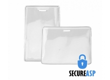 Secure ASP Heavy Duty Vinyl Prox Card Holders - Credit Card Size (Pack of 100)