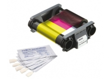 Evolis Full Colour Ribbon and Cleaning Kit - YMCKO - 100 Prints