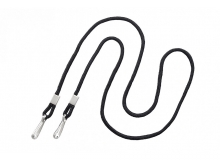 Black Open Ended Lanyard with Two Swivel Hooks (pack of 100)