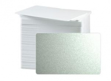 CR80 30 Mil PVC Cards, Metallic Silver (pack of 100)