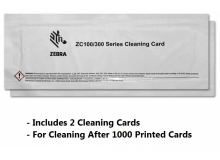 Zebra Cleaning Card Kit, ZC100/ZC300/ZC350, 2000 Printed Cards