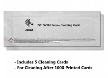 Zebra Cleaning Card Kit, ZC100/ZC300/ZC350, 5000 Printed Cards