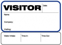 Visitor Pass Registry Book Custom Non-Expiring Badges with Sign Out - 742 Company (1 Book)