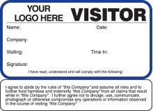 Visitor Pass Registry Book Custom Non-Expiring Badges with Sign Out - 782 Company (1 Book)