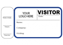 Visitor Pass Registry Book Custom Non-Expiring Badges with Side Sign Out - 762 Company (2 Books)