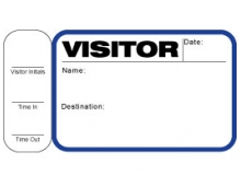 Visitor Pass Registry Book Stock Non-Expiring Badges with Side Sign Out - 716 Destination (2 Books)