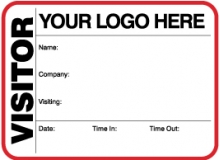 Visitor Pass Registry Book Custom Non-Expiring Large Badges - 739A Company (1 Book)