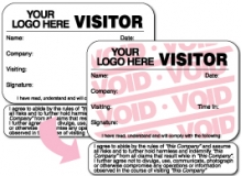 Visitor Pass Registry Book Stock Tab-Expiring Badges with Visitor Agreement - 820 Company (1 Book)