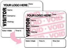 Visitor Pass Registry Book Custom Full-Expiring Badges with Sign Out - 809F company (1 Book)