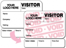 Visitor Pass Registry Book Custom Full-Expiring Badges with Sign Out - 814F Destination (1 Book)