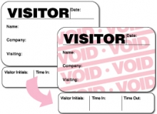 Visitor Pass Registry Book Full-Expiring Badges with Sign Out - 816F Destination (1 Book)