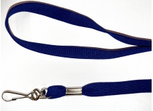 Non Breakaway Navy Blue Lanyard with Swivel Hook - Pack of 100