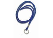Blue Non Breakaway Lanyard with Key Ring - Pack of 100