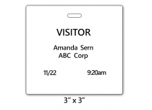 TEMPbadge 03961 - Slotted Non-Expiring Thermal Printable 3