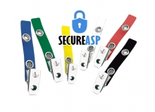 Secure ASP 2-Hole Colour Vinyl Strap Clip (Pack of 100)
