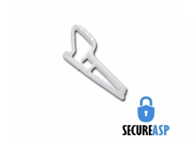 Secure ASP White Plastic Clip (Pack of 100)