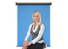 Motorized Retractable Photo ID Backdrop