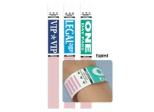 TEMPbadge 06883 - Pre-Printed Expiring Wristband (qty. 5,000)