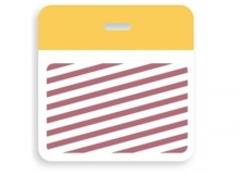 TEMPbadge Thermal Printable Clip-On One-Day/Half-Day Expiration Badge Back (qty. 1000)