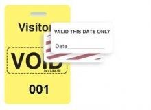 TEMPbadge 06520 - Reusable Yellow/White Sequenced VoidBadge (qty. 100)