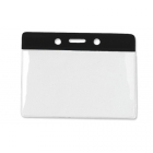 Horizontal Badge Holder with Colour Bar, Data/Credit Card Size (pack of 100) Image 2