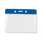 Horizontal Badge Holder with Colour Bar, Data/Credit Card Size (pack of 100) Image 3