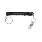 Expandable Nylon Cord - Split Ring and Vinyl Strap Clip (Pack of 100) Image 2