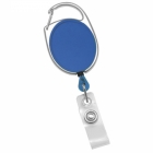 Premium Dual Clip Blue Carabiner Badge Reel with Clear Vinyl Strap (Pack of 50) Image 2