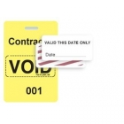 TEMPbadge 06520 - Reusable Yellow/White Sequenced VoidBadge (qty. 100) Image 3