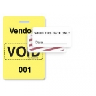 TEMPbadge 06520 - Reusable Yellow/White Sequenced VoidBadge (qty. 100) Image 5