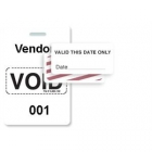 TEMPbadge 06520 - Reusable Yellow/White Sequenced VoidBadge (qty. 100) Image 6