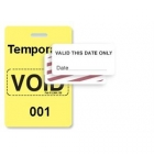 TEMPbadge 06520 - Reusable Yellow/White Sequenced VoidBadge (qty. 100) Image 7