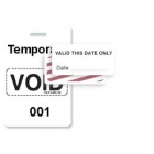 TEMPbadge 06520 - Reusable Yellow/White Sequenced VoidBadge (qty. 100) Image 8
