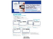 Custom Non-Expiring Visitor Book with Sign Out - 742C, 755D, 710C, 711D, 773FT, 782C