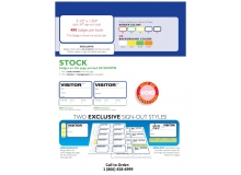 Stock Non-Expiring Visitor Book with Side Sign Out - 704C, 702D