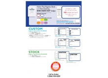 Custom & Stock Non-Expiring Visitor Book with Side Sign Out - 760C, 761D, 762C, 763D, 715C, 716D